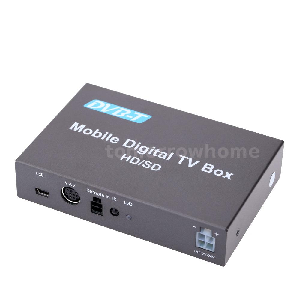 240km h in car mobile digital hd dvb t tv receiver box. Black Bedroom Furniture Sets. Home Design Ideas