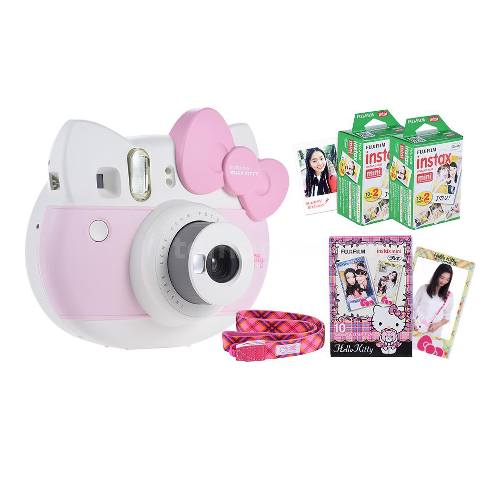 You Cannot Miss That Super Cute Hello Kitty Shape Camera Get Photo Paper Right After Releasing The Shutter Auto Metering Functions And Exposure