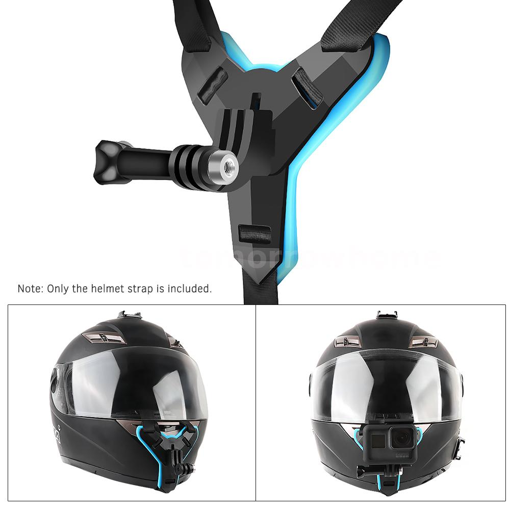 Details About Full Face Helmet Chin Mount Jaw Holder Motorcycle Helmet Strap For Gopro Hero