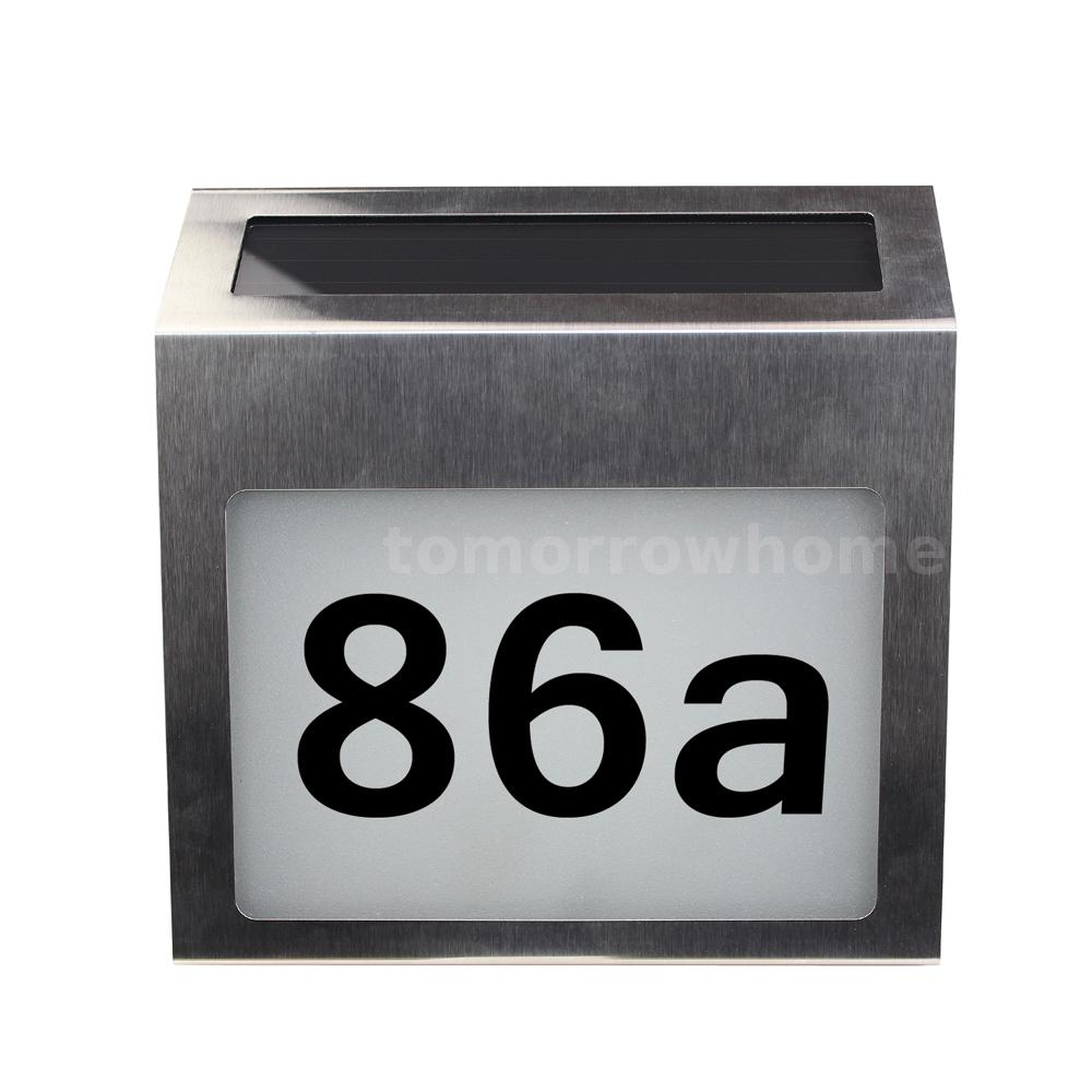 Details About Solar Lighted Address Signs House Number For Street Mailbox Led Plaque