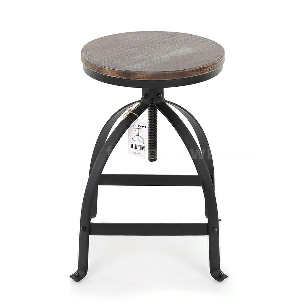 Round Bar Stool Industrial Metal Design Wood Top Chair  : H16839 1 614e rgzw from www.ebay.com size 1000 x 1000 jpeg 51kB