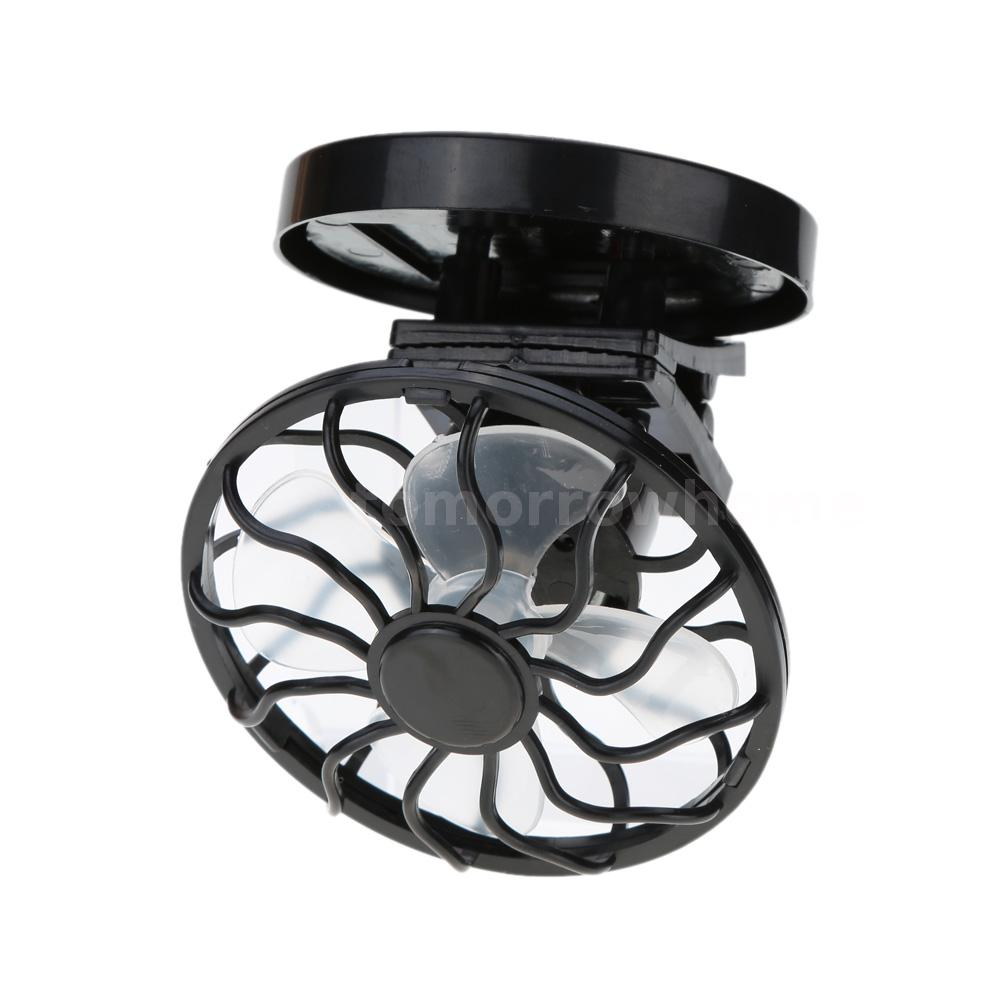 portable outdoor cell fan solar power energy clip on mini panel cooling cooler. Black Bedroom Furniture Sets. Home Design Ideas