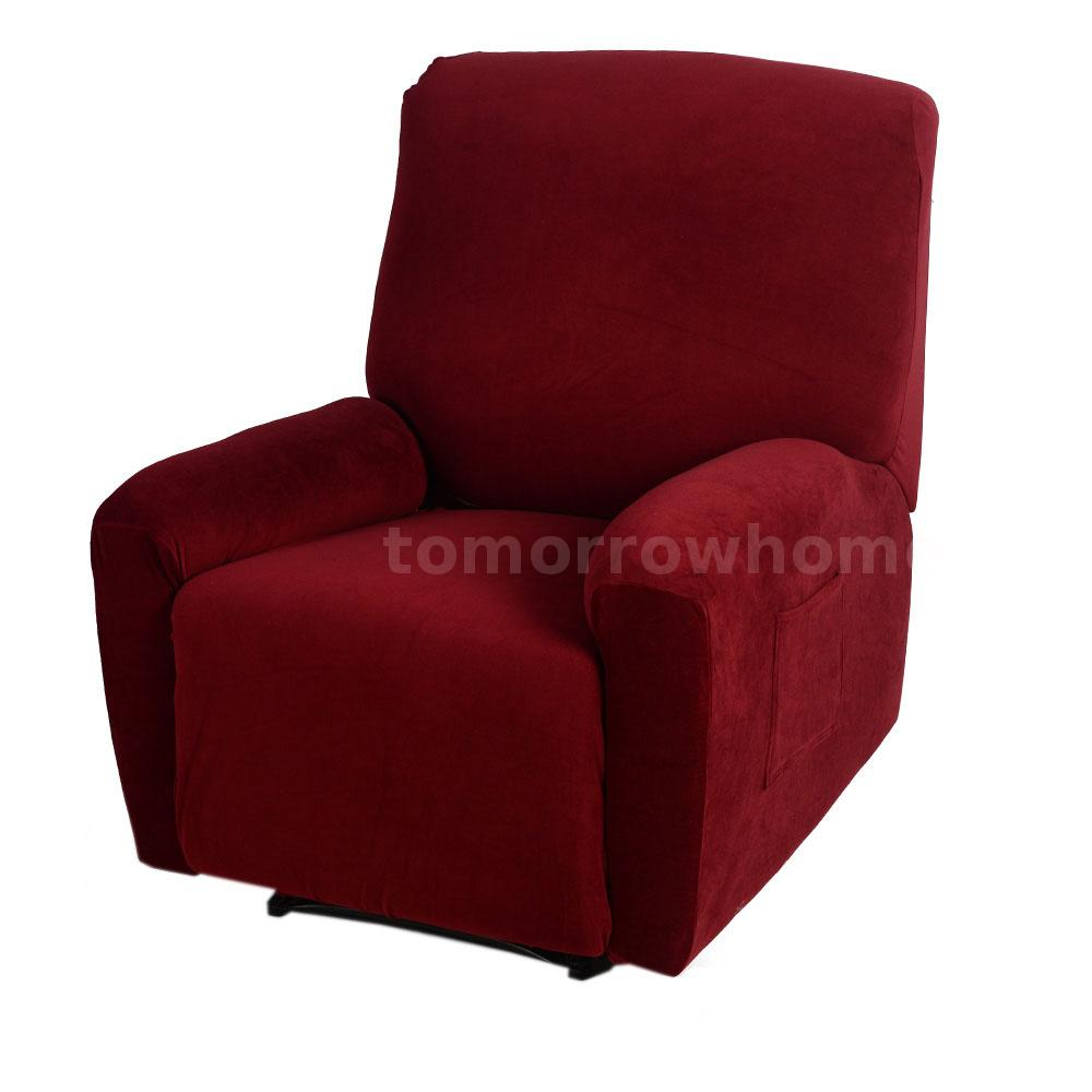 soft one seater sofa chair recliner cover slipcover