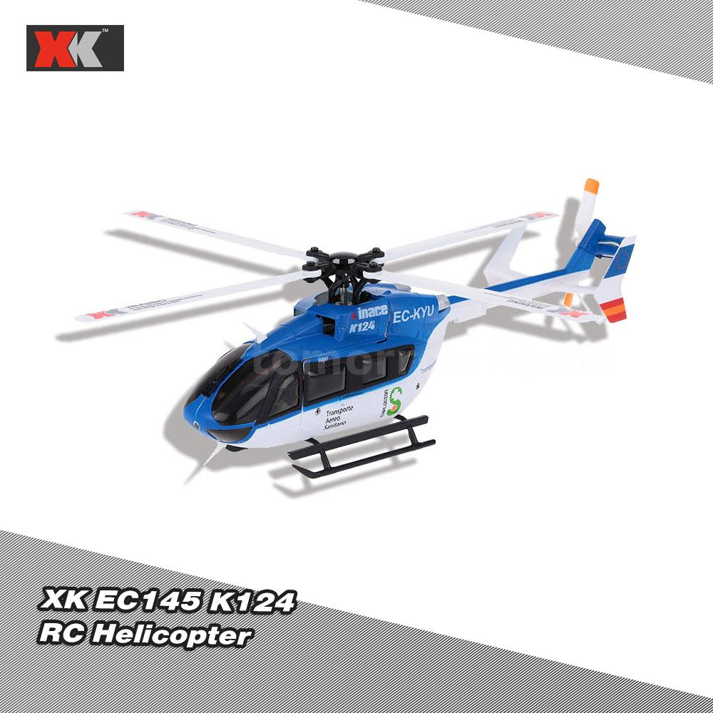 Xk Ec145 K124 Rc Helicopter 2 4g 6ch 3d 6g System