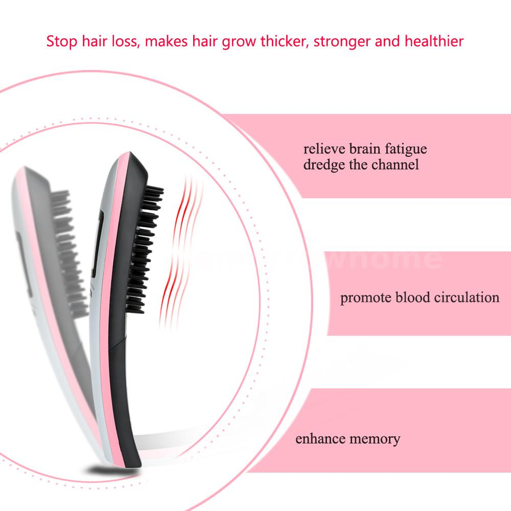 New Electric Infrared Energy Hair Massage Brush Grow Comb
