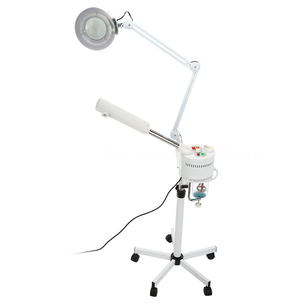Portable Facial Steamer 5X Magnifying Lamp UV Ozone