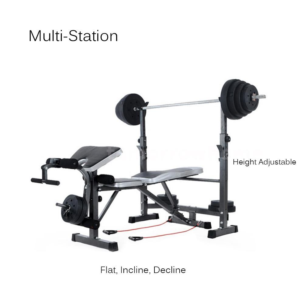 Tomshoo fitness exercise bench adjustable weight lifting